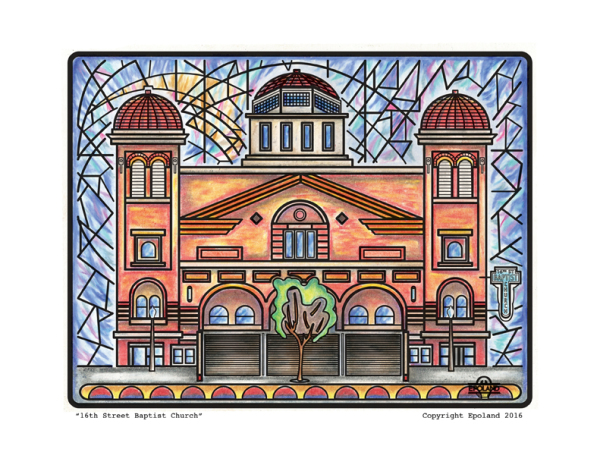 16th ST Baptist Church, Alabama Artist, 16th ST Baptist Church Art