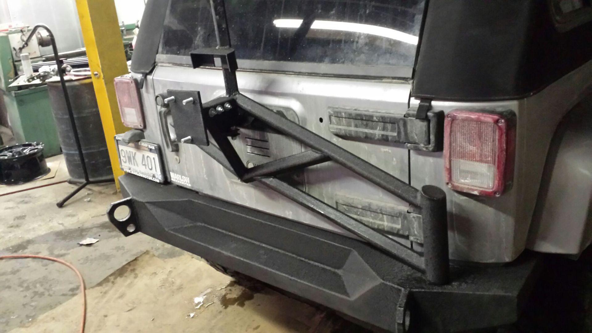 JK Rear Bumper with Tire Carrier
