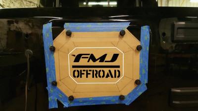 FMJ-K8 Tire Relocation Block Off - 3rd Brake Light