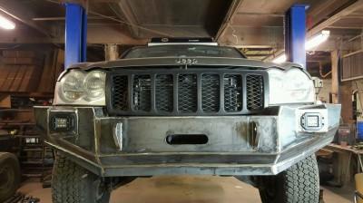 Jeep, HEMI, Hemi, Bumper, Grand Cherokee, WK, welding, fabrication, brush guard