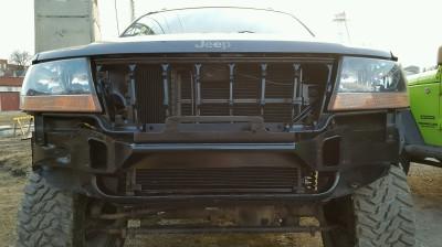 Jeep, WJ, Grand Cherokee, bumper, brush guard, weld, fabrication