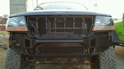 Jeep, WJ, Grand Cherokee, bumper, brush guard, weld, fabrication