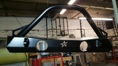 Jeep, brush guard, bumper, weld, fabrication, powder coat