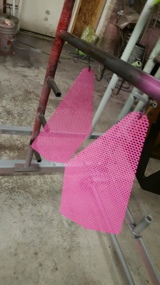 Custom powder coating, powder coat, pink