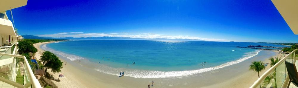 Banderas bay view from balcony at beachfront Punta Mita Condo