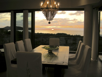 Sunset, view from dining table