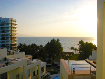Sunset, view from balcony, Nitta Nuevo Vallarta