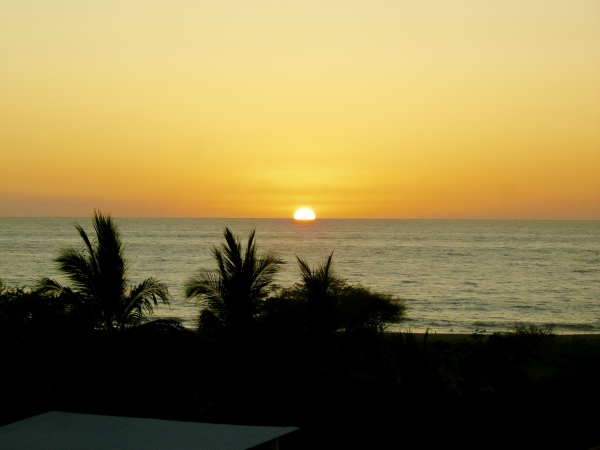 Sunset, view from San Pancho Apartments