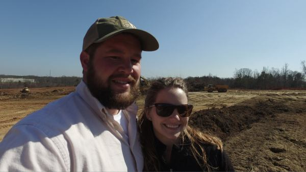Me and the wifey on the first job of the season