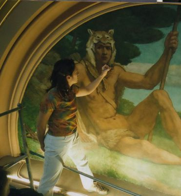 Wolfman Jack or the Huntsman:  Iowa State Capital Rotunda Murals