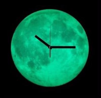 Glow in the Dark Moon Clock