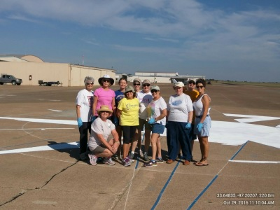 October 28, 2016- Day 1- Compass Rose Painting Gainesville Airport