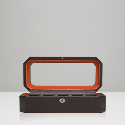 5 PIECE WATCH BOX - BROWN & ORANGE