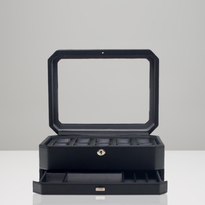 10 PIECE WATCH BOX WITH DRAWER