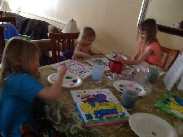 Painting fun with my little ladies