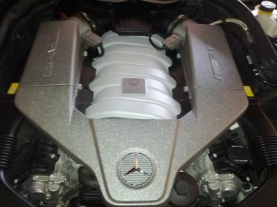 Mercedes C63AMG Engine Detail