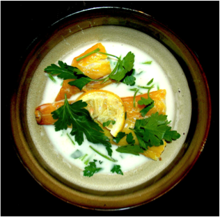 Baked Haddock with Parsley Sauce