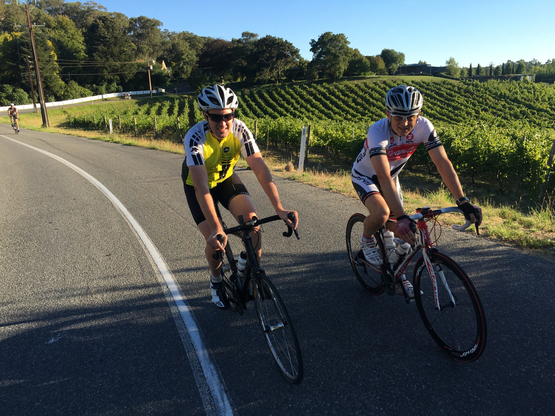 Coaching clients through the Adelaide Hills