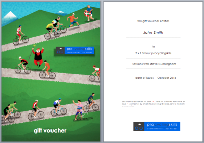 gift vouchers cycling