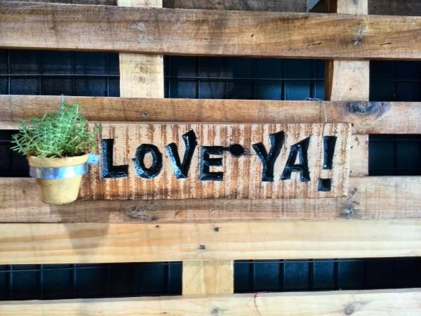 Love ya signage