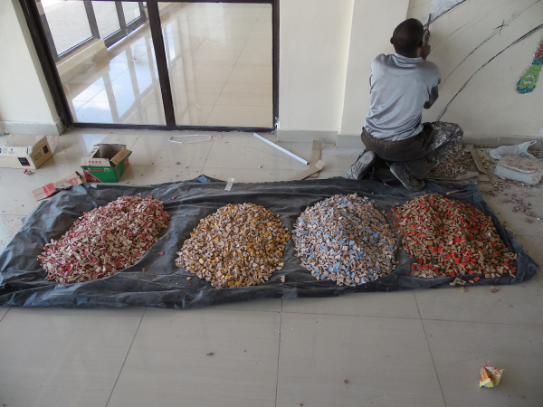 Broken tiles preparations