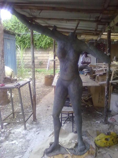 Prophetess Syokimau sculpture progress