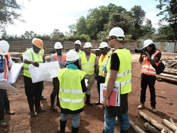 Artists visit the Garden City Mall construction site