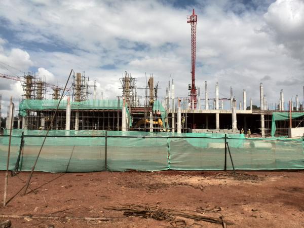 Garden City Mall construction site.