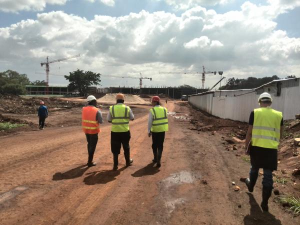 Garden City Mall construction site