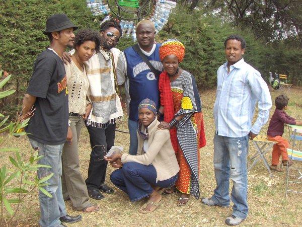 L-R, Dawit Adenew, Mihret Kebede, Zenzele Chulu, Michael Soi, Mwandale Mwanyekwa, Aklilu Temesgen and Maggie Otieno.