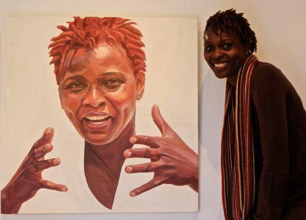 Artist with Artist Portrait