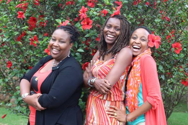 L-R, Sylvia Gichia Director Kuona Trust, Maggie Otieno and Christine Gitau founder Craft Afrika