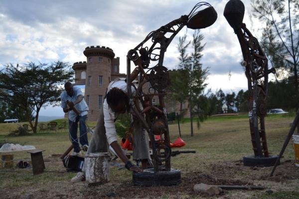 Tafaria Castle, Last of the Keep from the poems of George Waititu Tafaria 2016, public art Kenya, Maggie Otieno, art in Kenya, Kenyan art