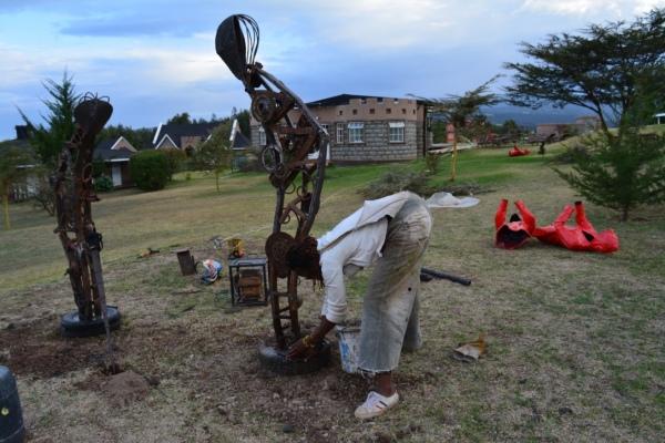 Tafaria Castle, Last of the Keep from the poems of George Waititu Tafaria 2016, public art in Kenya, Maggie Otieno, Kenyan sculptor,  art in Kenya, Kenyan art