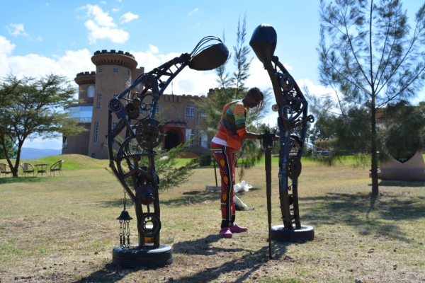 Tafaria Castle, Last of the Keep from the poems of George Waititu Tafaria 2016, public art Kenya, Maggie Otieno, art in Kenya, Kenyan art