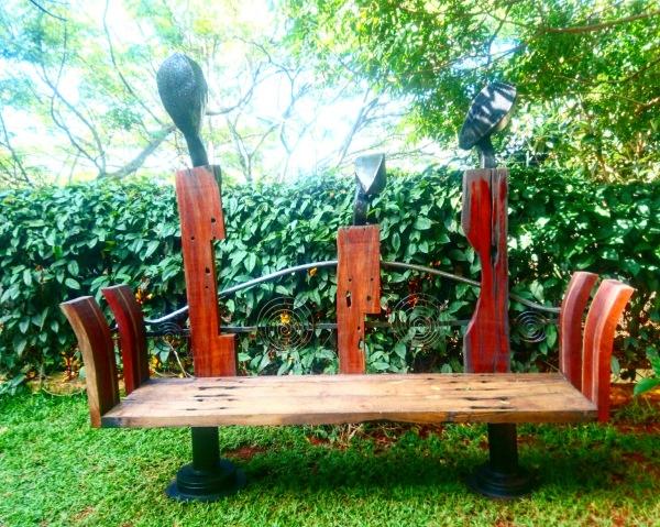 'When We Had Conversations' bench