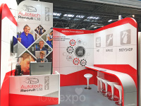 4m x 3m möbius exhibition stand hire Liverpool