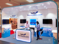 5m x 4m möbius exhibition stand hire Olympia London
