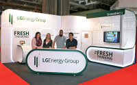 7m x 4.5m stand for LG Energy Group