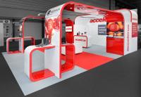 5m x 7m 35 Squ m möbius exhibition stand NEC Birmingham
