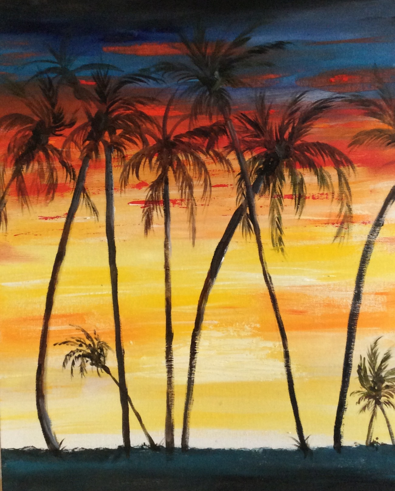 Palms against the Setting Sun