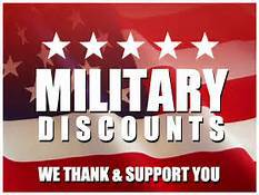 Discounts for Military!