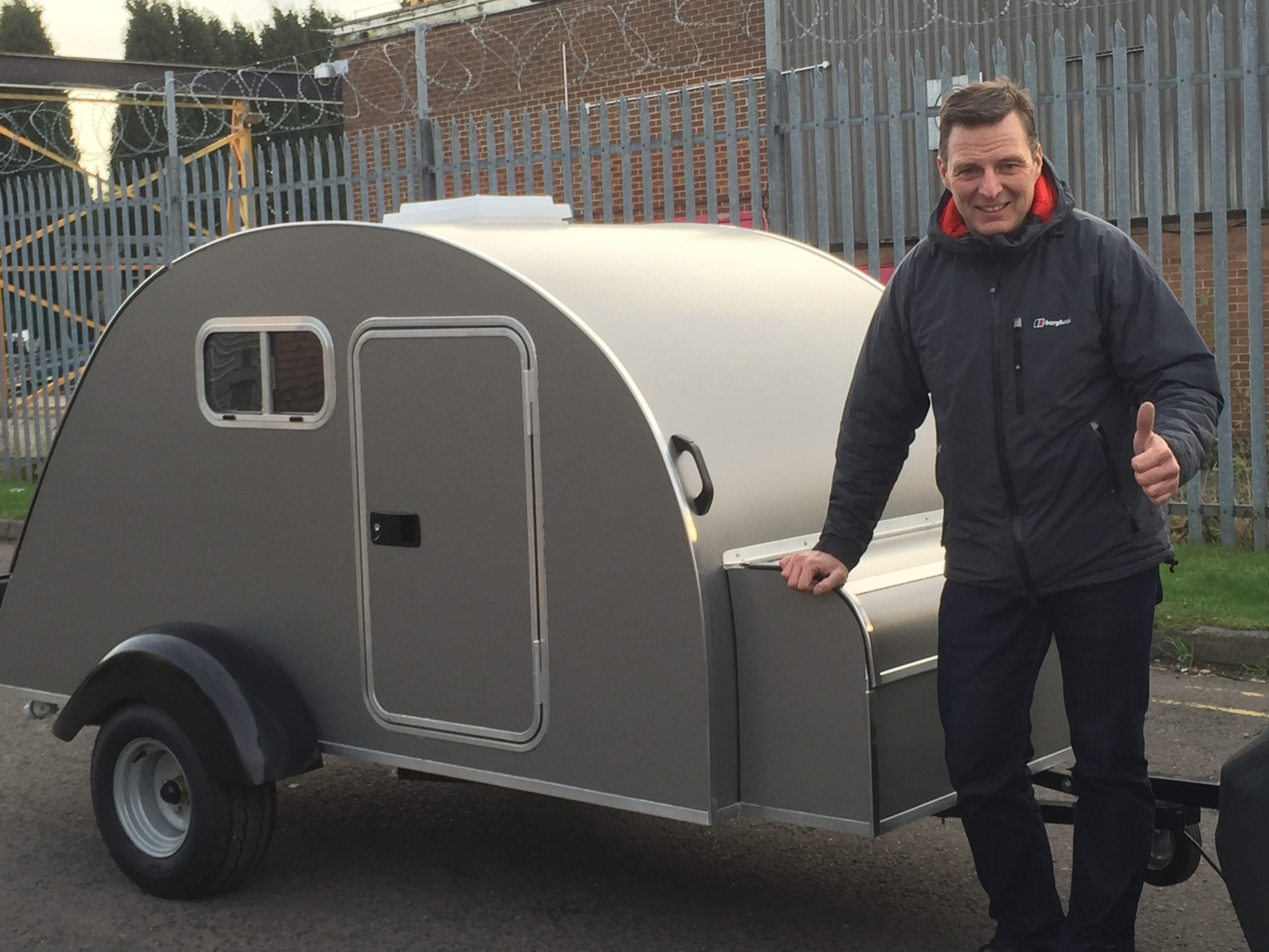 Ian's Grey Metalic Teardrop Trailer