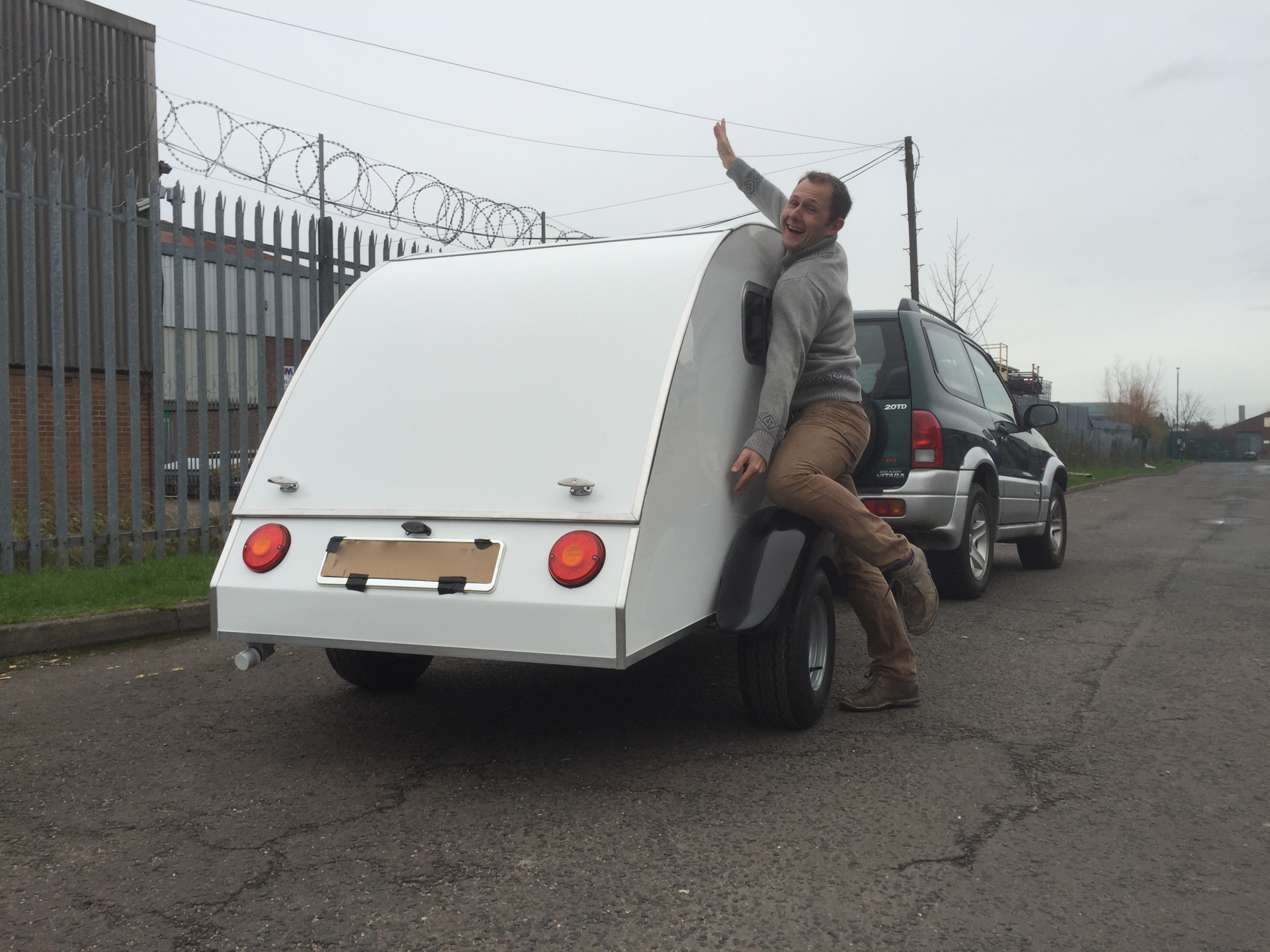 Gavin's White Teardrop Trailer