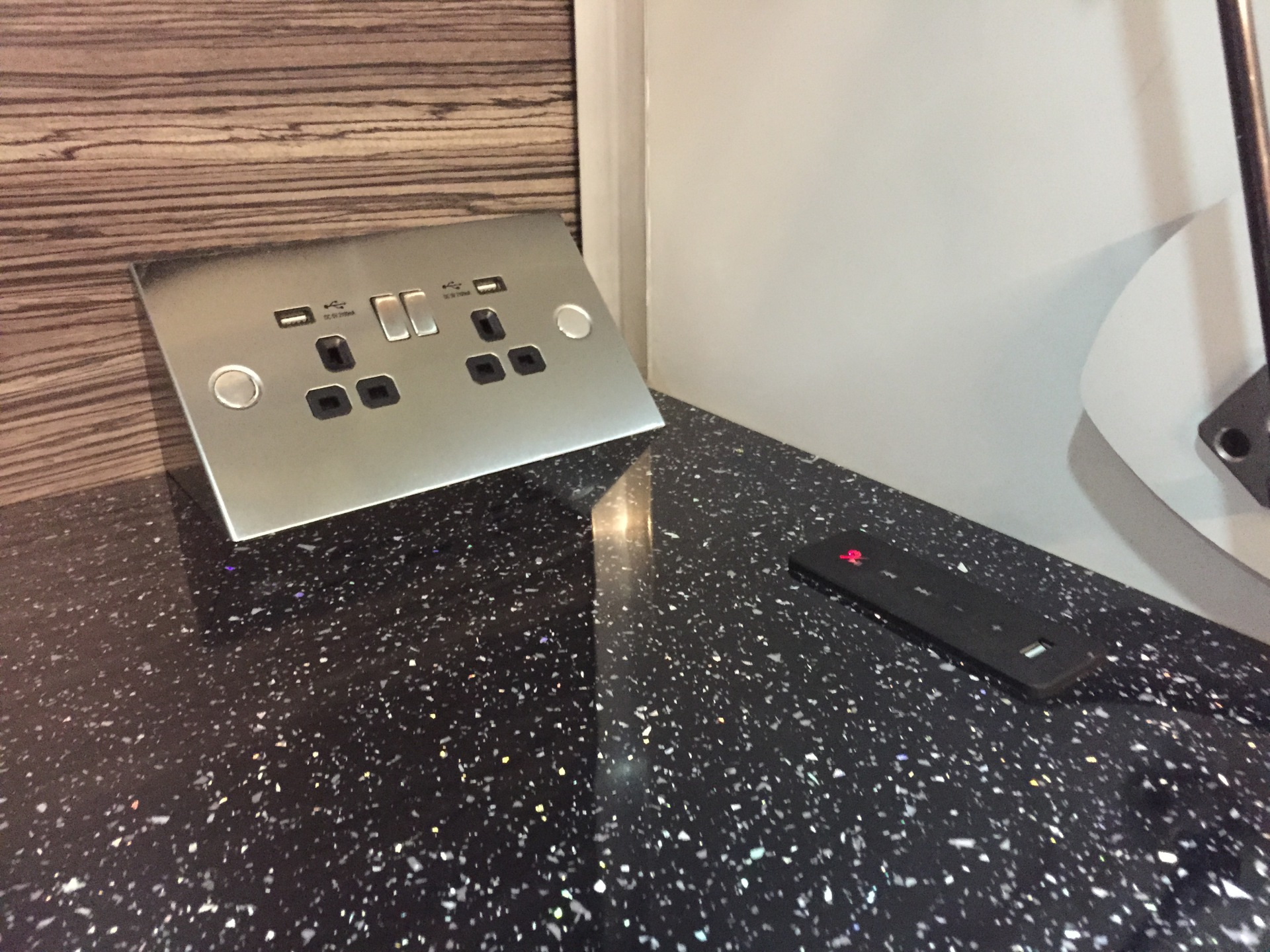 All our trailers come with double 240v socket with 2 USB sockets