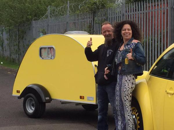 Penny & Robs NODPOD special order in yellow to match VW Beatle