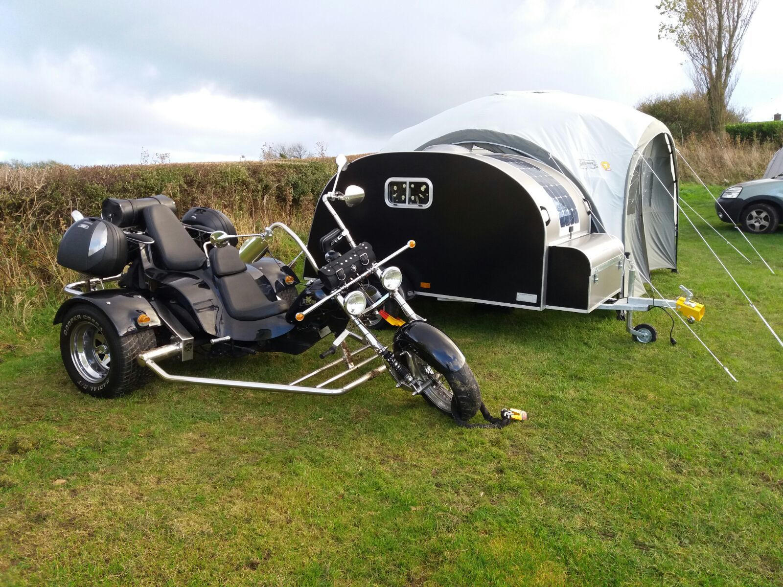 Glampa Campa  pulled with Trike