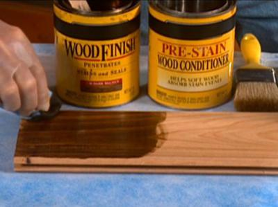 Staining/wood restoration