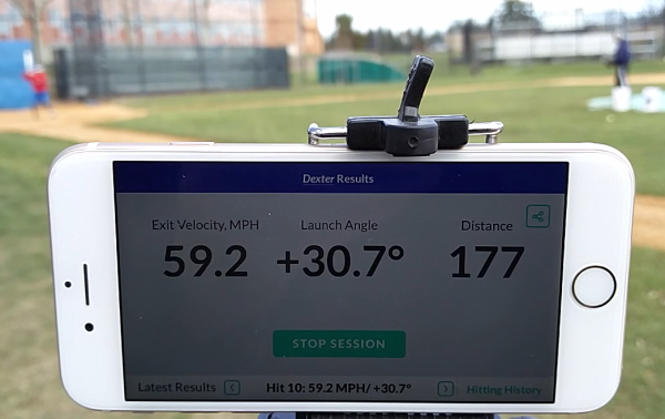 Only App in the World with Hands Free Launch Angle & Exit Velocity