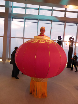 CHINESE LANTERN ON STILTS